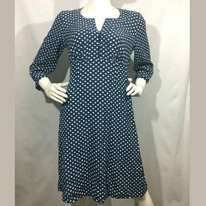 Boden Floaty Day Dress Women's 14R Print Buttons